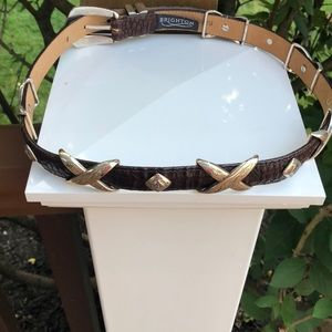 Brighton leather belt with silver tone accents